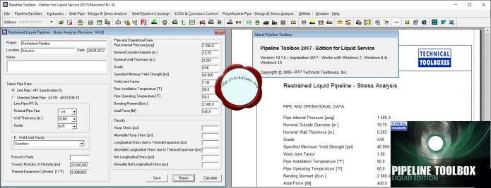 Working with TTI Pipeline Toolbox 2017 v18.1.0 full license