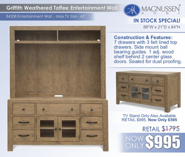 Griffith TV Stand Entertainment Wall