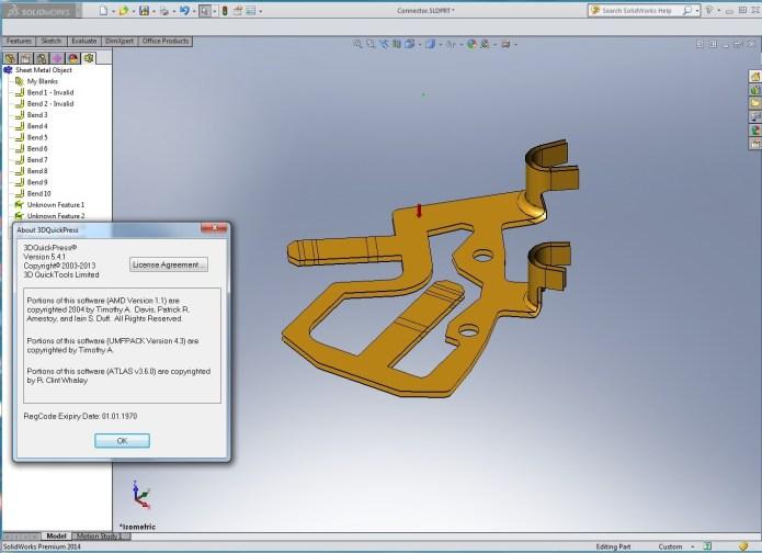thiết kế khuôn dập trên phần mềm 3DQuickPress 5.4.1