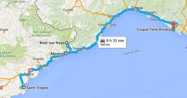 St Tropez to Cinque Terre 2