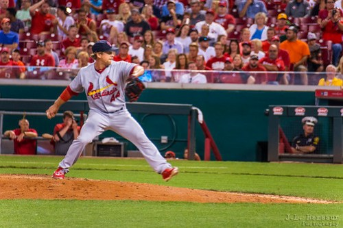 100 mph Pitch by Trevor Rosenthal - Cardinals at Reds - Great American Ballpark