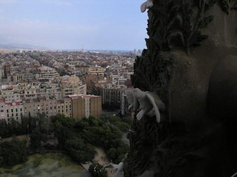 Barcelona Sagrada Familia vista through tower window2