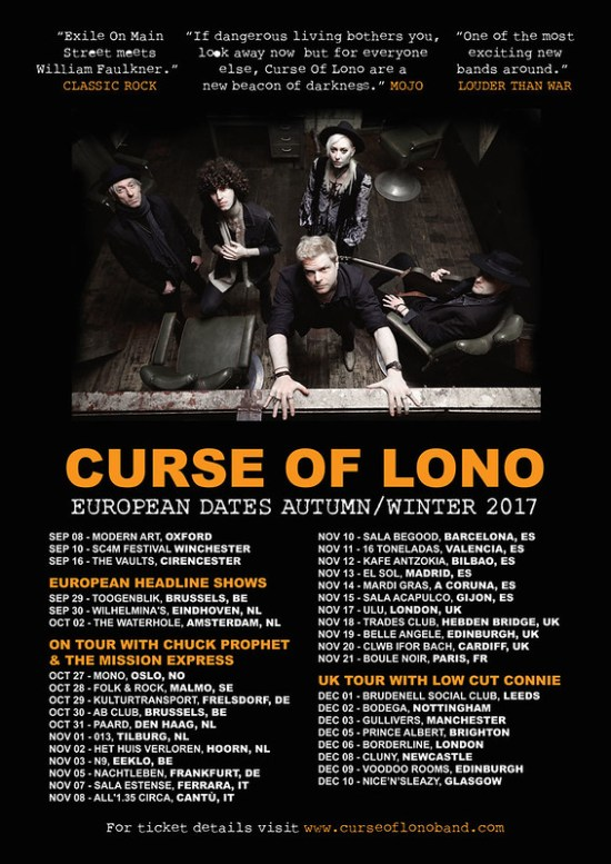 Curse Of Lono - European Tour Dates Sept / Oct / Nov / Dec 2017