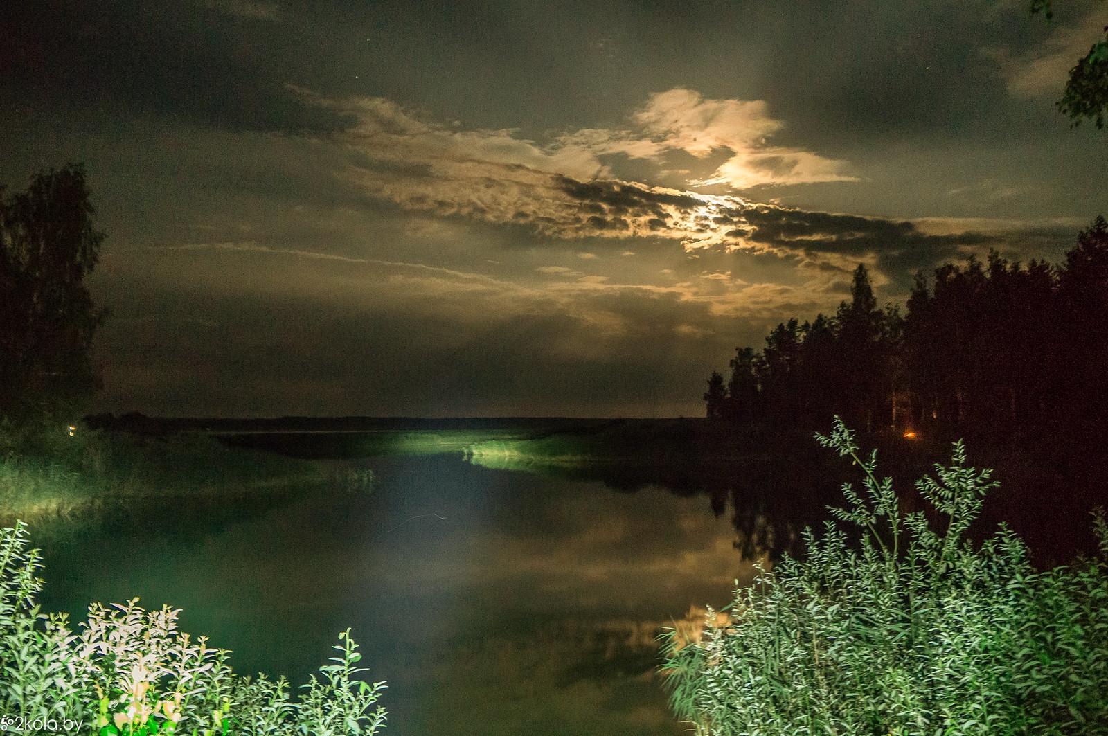 Краснослободское водахранилище ноью