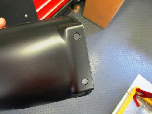 Rear Fender Front Holes Fit on Tabs on Battery Box Bracket