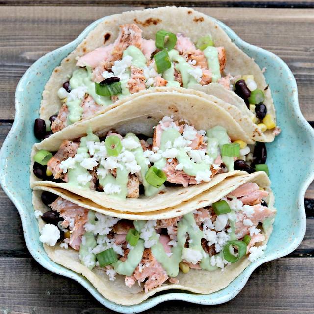 Blackened Salmon Tacos Sq