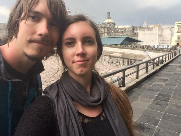 Kyle and Briana at Templo Mayor