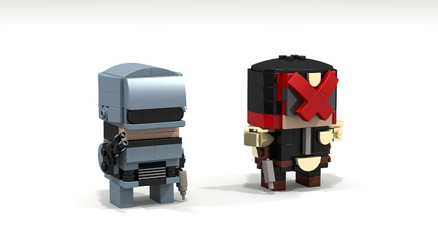 Brickheadz Robocop & Judge Dredd