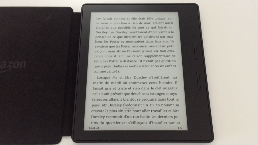 20170827 Test de la liseuse électronique Kindle OASIS Amazon 2