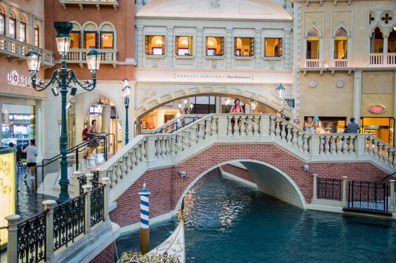 Las Vegas Venetian Hotel Canals