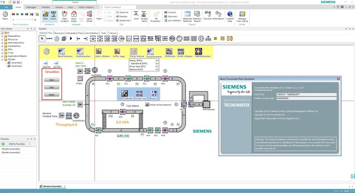 Working with Siemens Tecnomatix Plant Simulation 13.2.1 full license