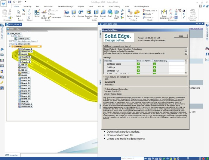 Design with Siemens Solid Edge ST10 full license