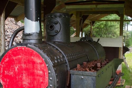 Lokomotivet er fra gruvedrifta tidlig på 1900-tallet