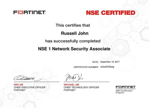 NSE 1 Network Security Associate - Russell\'s Cyber Journal