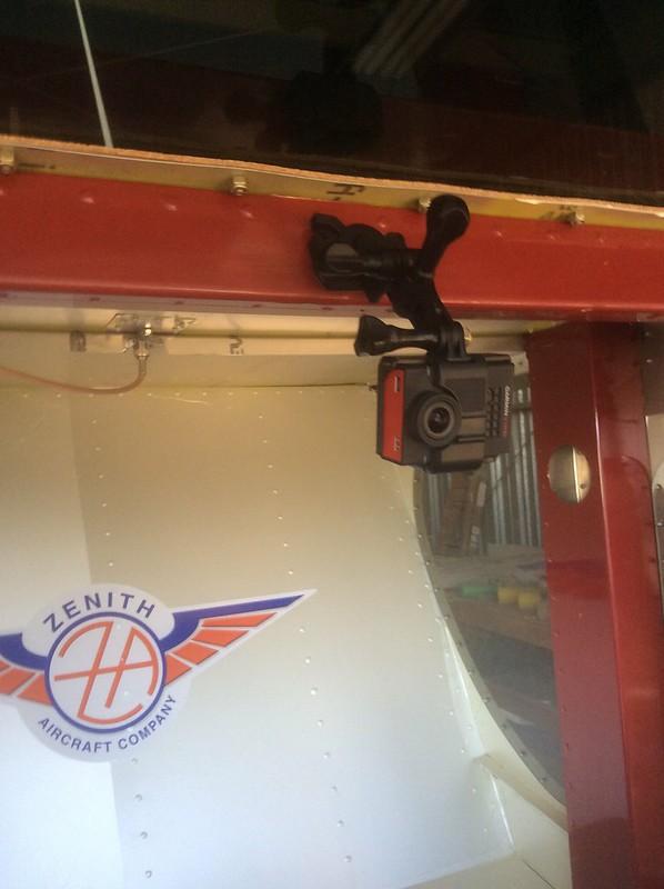 Garmin VIRB installed in cockpit
