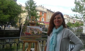 Art teacher Kirah Van Sickle in Provence with www.frenchescapade.com