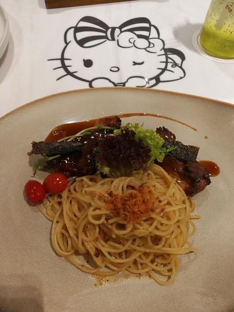 Pasta with Hae Bee Hiam (prawn paste)