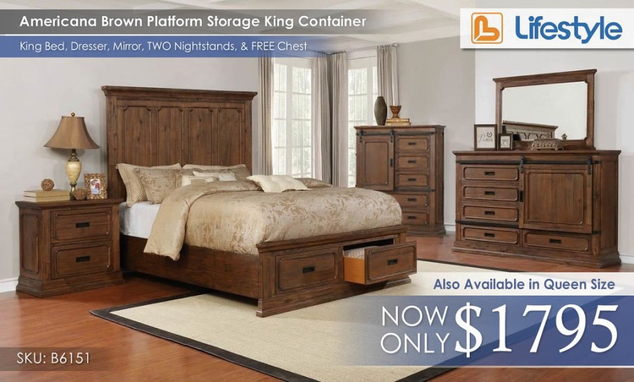 Americana Brown King Container B6151BR__63314