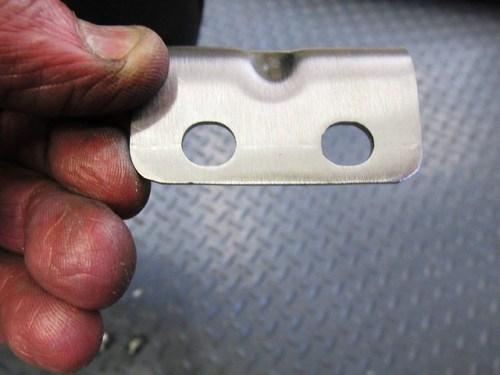 Muffler Angle Bracket Holes for Frame