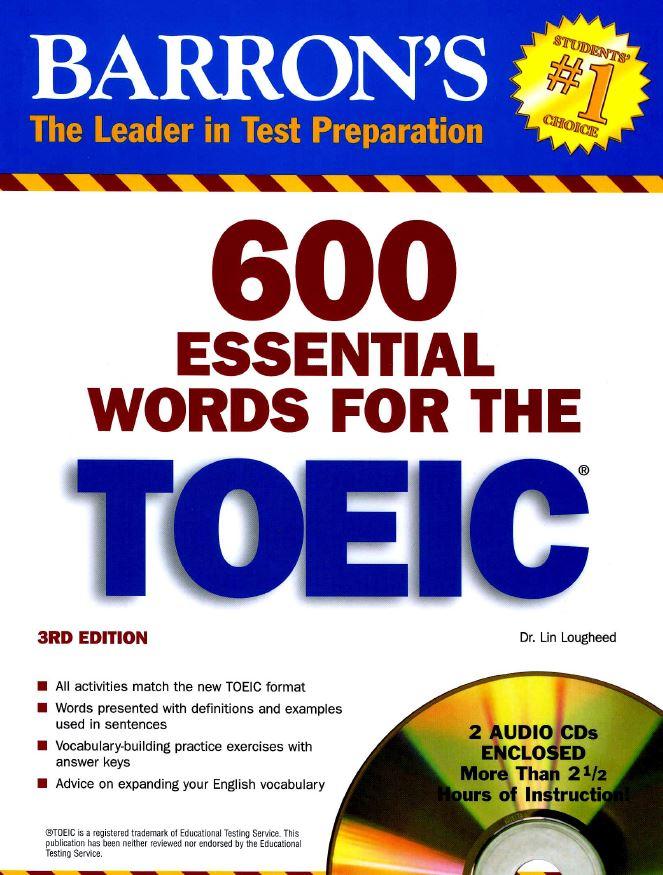 600 từ toeic thông dụng nhất hiện nay - xuất bản lần 3