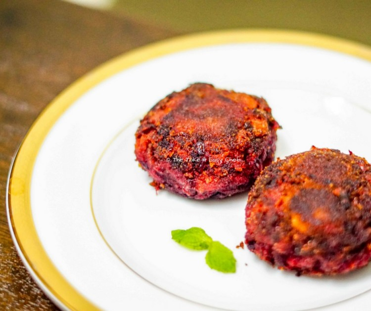 Vegetable Cutlet - Delicious Beetroot and Carrot Patties (Vegetable Tikki)