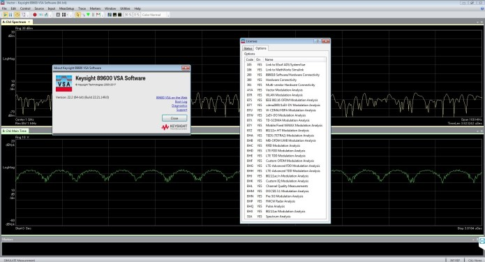 Working with Keysight 89600 VSA-WLA 22.21 full license