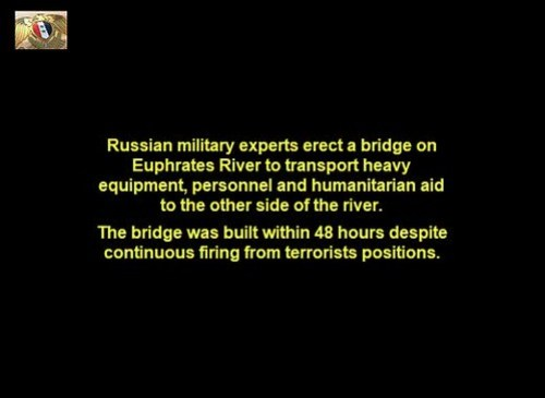 Military Bridge in Deir Ezzor Built by Russian Military Experts