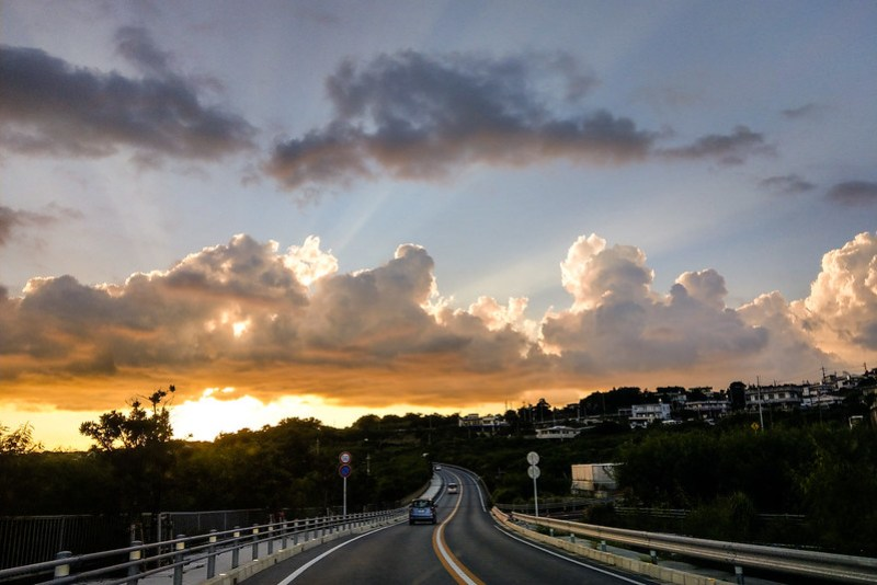 Driving Toward Sunset