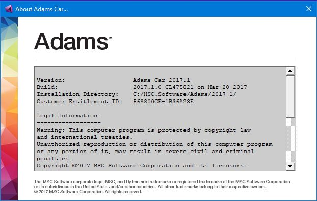 MSC Adams 2017.1 win64 full license