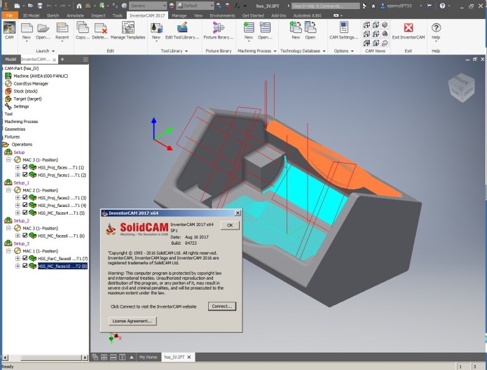 Machining with InventorCAM 2017 SP1 for inventor full license