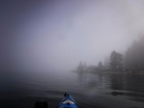 Samish Island Paddling in Fog-47