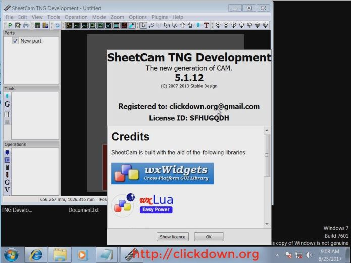 programming with sheetCAM 5.1.12 full license forever