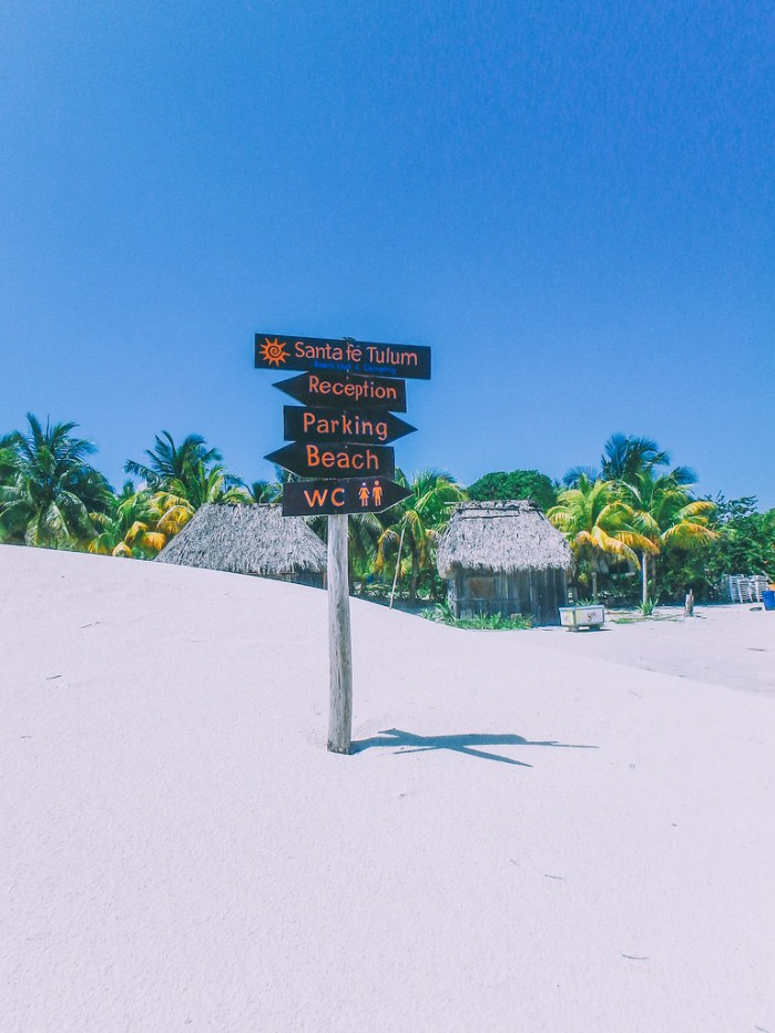 Santa Fe Beach by the Tulum ruins in Mayan Riviera, Mexico