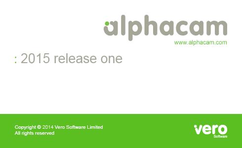 Phiên bản phần mềm alphacam 2015