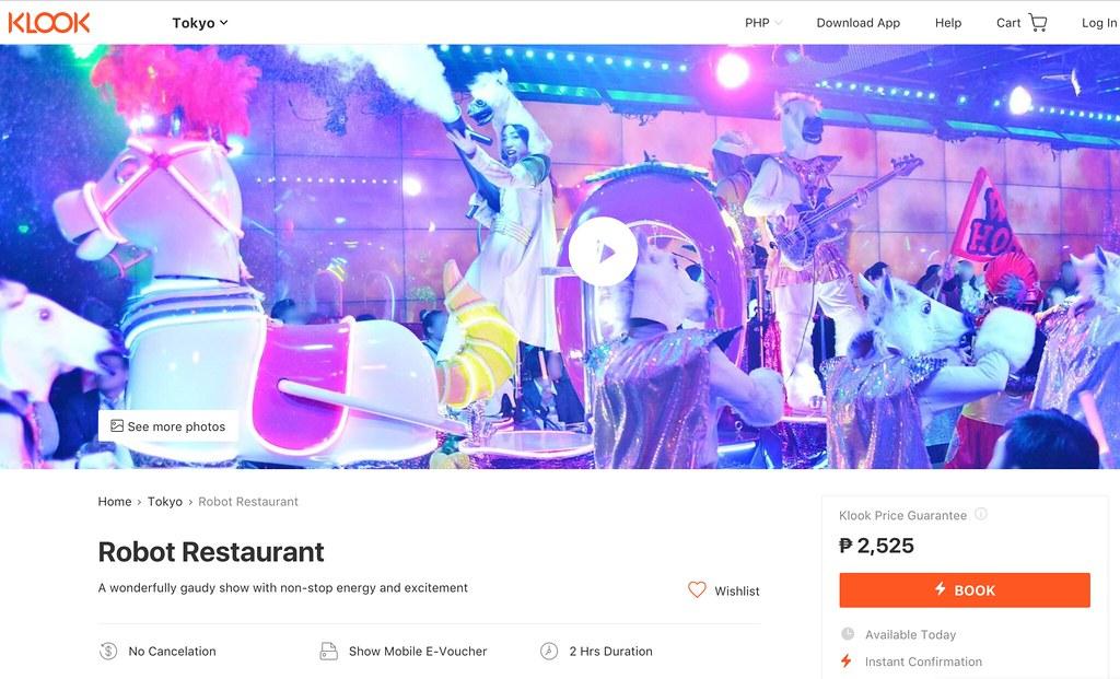 Klook Robot Restaurant
