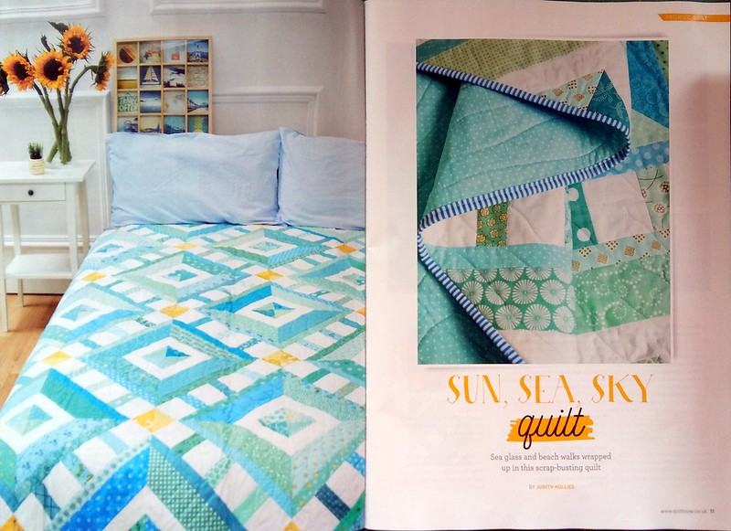 Sun, Sea and Sky Quilt (Quilt Now Aug17)