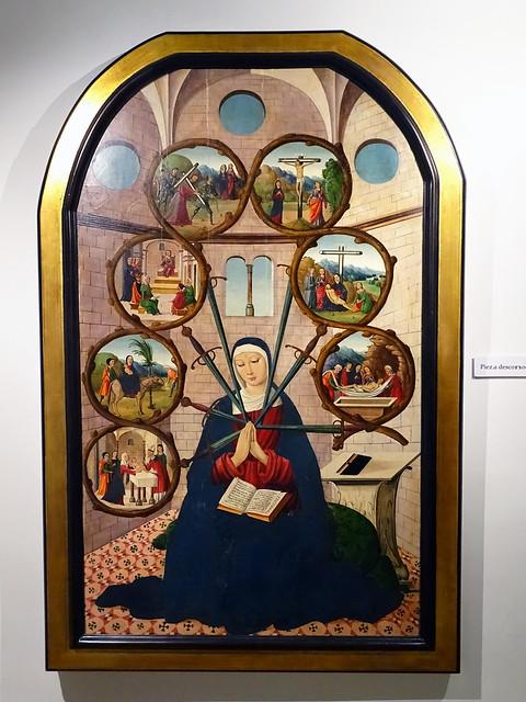 Segovia Museo Provincial pintura escuela alemana La Virgen de los Siete Cuchillos Siglo XVI procedente del Monasterio del Parral