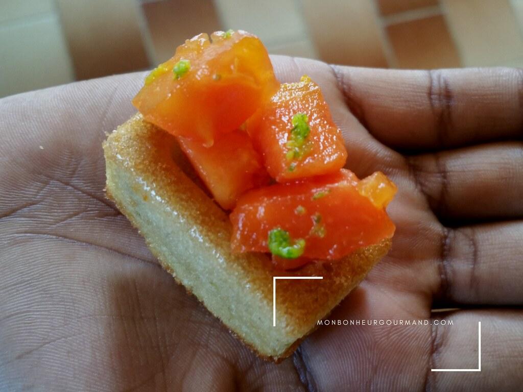 financiers manioc et zestes de citron