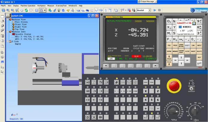 CNC simulation with Phần mềm Nanjing Swansoft CNC Simulator v6.9.1.3