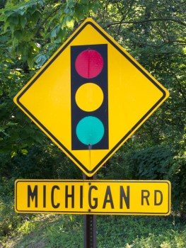 Michigan Road bicycle trip