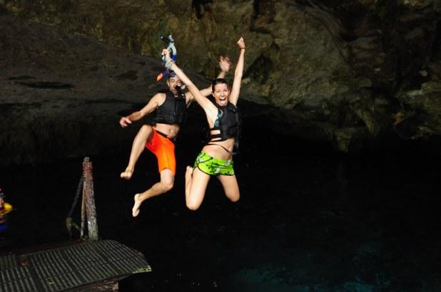 Saltando al agua en México