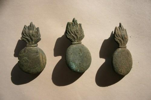 Emblematy płonący granat prusy