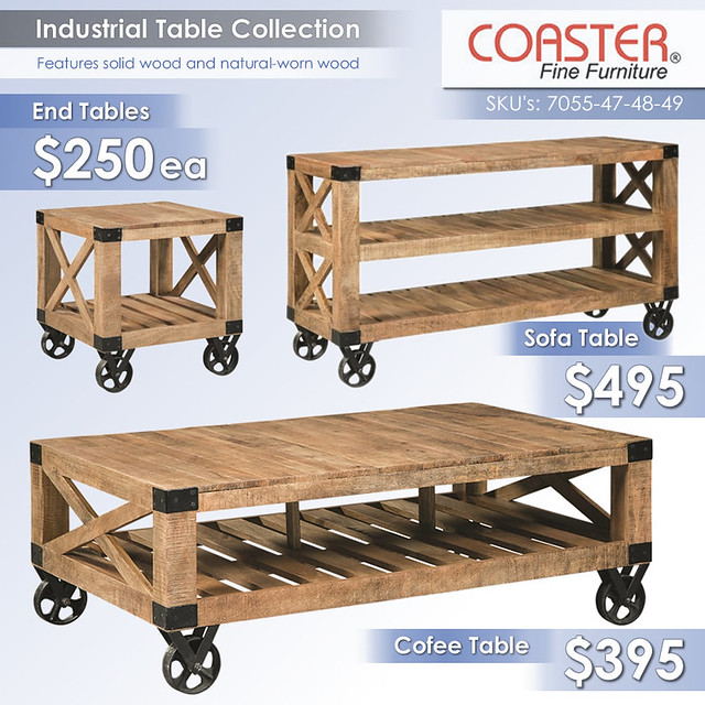 Industrial Table Collection by Coaster_2017