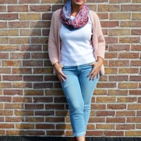 Outfit of the week: Soft pink vest.