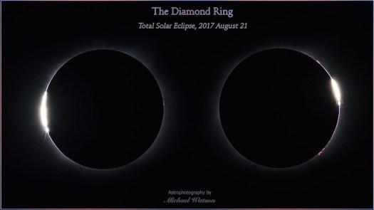 2017 Aug. 21 ~ The Diamond Ring - total solar eclipse