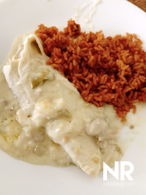 Instant Pot - Creamy Chicken Enchiladas from Pressure Luck