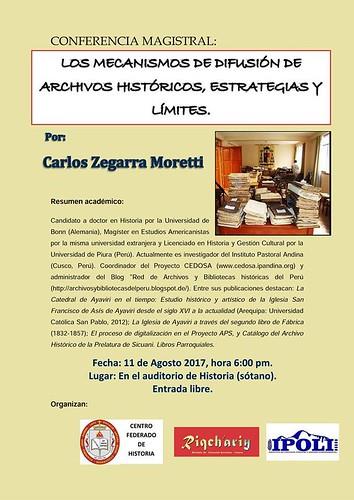 Charla de Carlos Zegarra con alumnos de la carrera de Historia de la UNSAAC