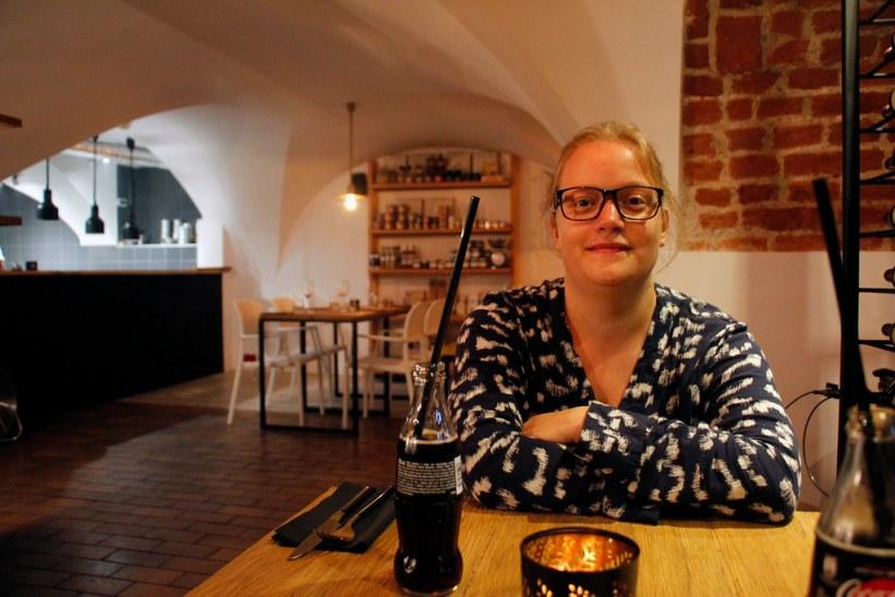 god vinrestaurant i Gdansk, Polen