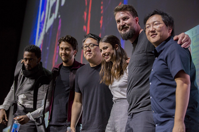 Lakeith Stanfield, Nat Wolff, Roy Lee, Margaret Qualley, Adam Wingard and Masi Oka.