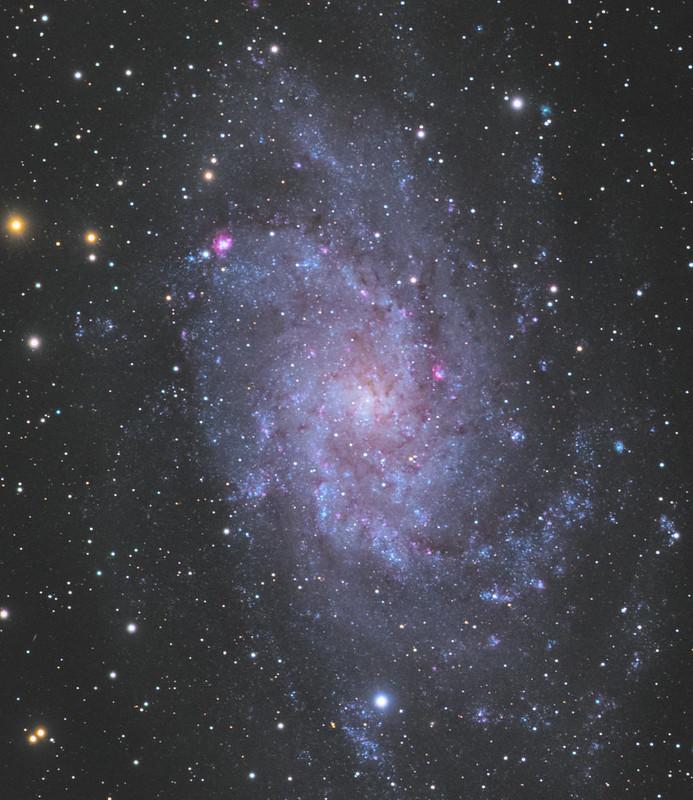 M33 - the Triangulum galaxy (mixed DSLR+ColdMos camera)